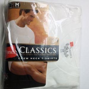 New Hanes Men's 3pk Crew Neck T-Shirts Size Medium